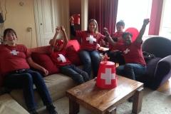 Support voor de Zwitserse familie