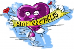 Striptekenklas logo