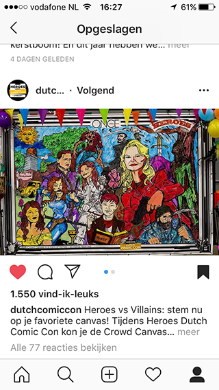 Dutch Comic Con Instagram